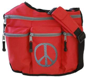 Diaper Dude Peace Diaper Bag (Red)
