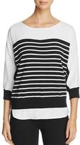 Calvin Klein Mixed Media Stripe Sweater