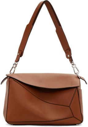 Loewe Brown XL Puzzle Bag