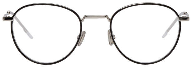Christian Dior Black and Silver Round 213 Glasses