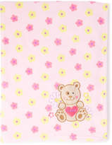 Sweet & Soft 31'' X 40'' Floral Bear Squeaker Stroller Blanket