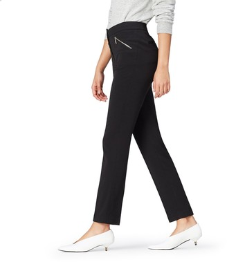 Find. Amazon Brand Women's Straight Leg Trouser with Zip Pockets