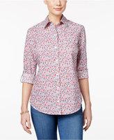 Karen Scott Petite Floral-Print Shirt, Only at Macy's