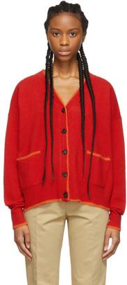 Marni Red Wool Cardigan