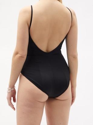 Norma Kamali Wonderwoman V-neck Swimsuit - Black