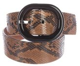 Michael Kors Snakeskin Buckle Belt