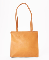 Le Donne Tan Simple Leather Tote