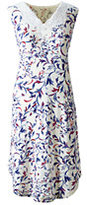 Classic Women's Sleeveless Knee Length Print Nightgown-Radiant Navy