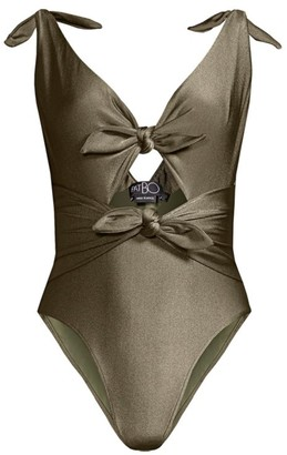 PatBO Bow Cutout One-Piece Swimsuit