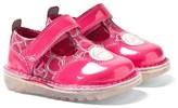 Kickers Pink Love Heart T-Bar Shoe