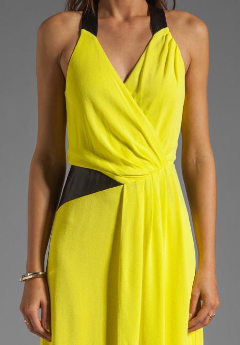 Milly Italian Crepe Jersey Zip Halter Dress