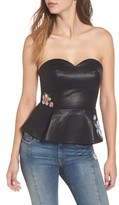 J.o.a. Women's Faux Leather Bustier