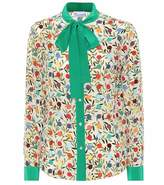 RED Valentino Rosebud silk pussy-bow blouse