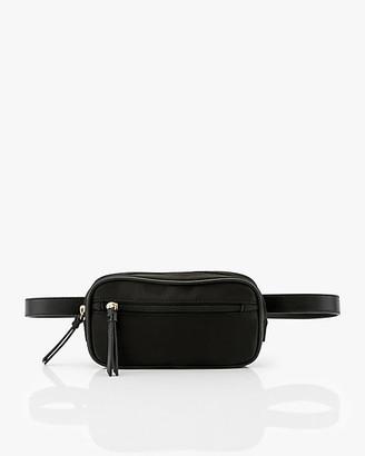 Le Château Nylon & Faux Leather Belt Bag