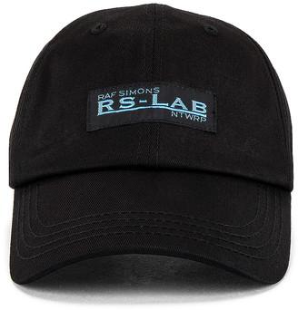 Raf Simons RS Lab Cap in Black   FWRD