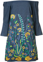 Alice + Olivia Alice+Olivia - floral embroidered dress - women - Cotton/Polyester/Spandex/Elastane - XS