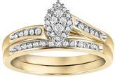 Cherish Always Diamond Bypass Engagement Ring Set in 10k Gold (1/5 Carat T.W.)
