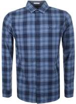 Tommy Jeans Check Shirt Blue