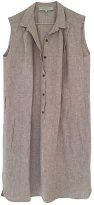 Gerard Darel Ecru Linen Dress for Women