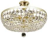 Camilla And Marc TITANIALUX UK CZ354/6GO Crystal Polished Brass E14 Chandelier, 40 W, 40 x 40 x 25 cm