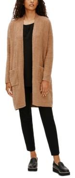 Eileen Fisher Cotton Textured Long Cardigan, Regular & Petite