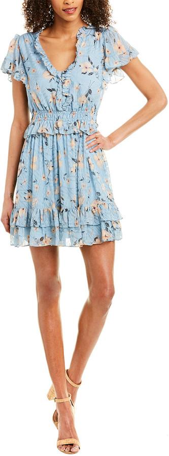 Rebecca Taylor Daniella Silk A-Line Dress
