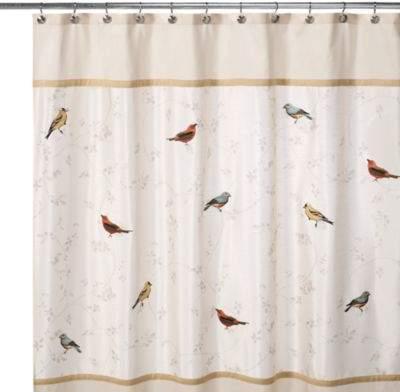 Avanti Gilded Birds 70-Inch x 72-Inch Shower Curtain