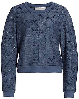 See by Chloe Pointelle Knit Pullover Sweater