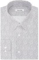 Calvin Klein Men's Fitted Infinite-Stretch Black Line-Pattern Dress Shirt