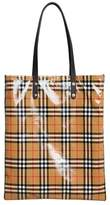 Burberry Large coated checked tote