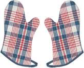 Now Designs Oven Mitts, Portland Plaid, Set of 2