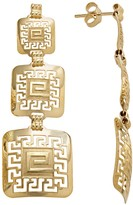 Kohl's 14k Gold & Sterling Silver Greek Key Linear Drop Earrings