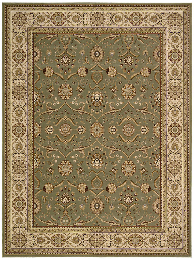 "Nourison Area Rug, Persian King PK01 Green 7'10"" x 10'6"""