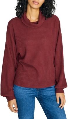 Sanctuary Klara Waffle Knit Turtleneck Sweater