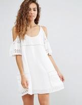 d.RA Nancy Eyelet Cold Shoulder Dress