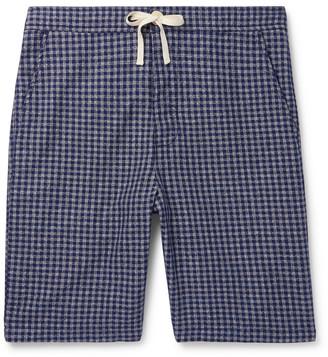 Oliver Spencer Loungewear Cannington Gingham Cotton Drawstring Pyjama Shorts