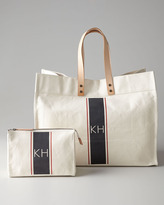 Iomoi Striped Tote & Cosmetic Bag