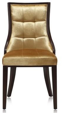 Fien Upholstered Dining Chair One Allium Way Upholstery Color: Green Velvet