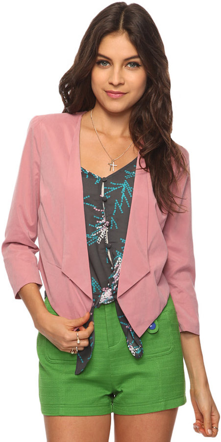 Forever 21 Cropped Suedetted Jacket