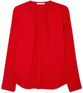 HUGO Banyra Red Stretch Silk Blouse