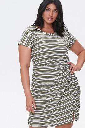 Forever 21 Plus Size Striped Mini Dress