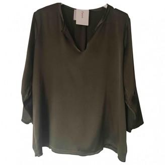 Jucca Khaki Silk Top for Women