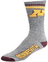 For Bare Feet Adult Minnesota Golden Gophers Two Stripe Crew Socks