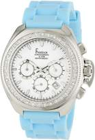 Freelook Women's HA6303-6X Aquamarina Iii Blue Band Dial and Swarovski Bezel Watch