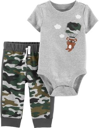 Carter's Baby Boy Camo Koala Bodysuit & Pants Set