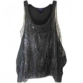 Jimmy Choo For H&M For H&m Black Silk Top for Women