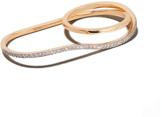 Botier 18kt rose gold Bella diamond double ring