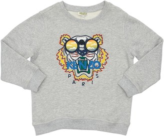 Kenzo Kids Tiger Embroidered Cotton Sweatshirt