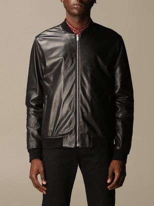 Golden Goose Jacket Leather Bomber With Zip