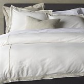 Crate & Barrel Bianca White/Natural Duvet Covers and Pillow Shams
